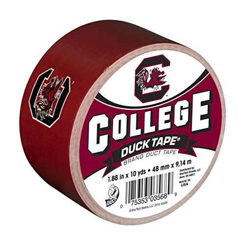 Carolina Logo Gamecock South University (Duck Brand 240276 University of South Carolina College Logo Duct Tape, 1.88-Inch by 10 Yards, Single Roll)