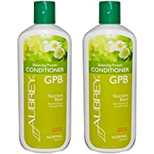 Aubrey Organics GPB Balancing Protein Conditioner Rosemary Peppermint With Organic Aloe, Olive Oil, Glycoprotein and Milk Protein, Normal Hydrate, 11 fl oz (325 ml) (Pack of 2)
