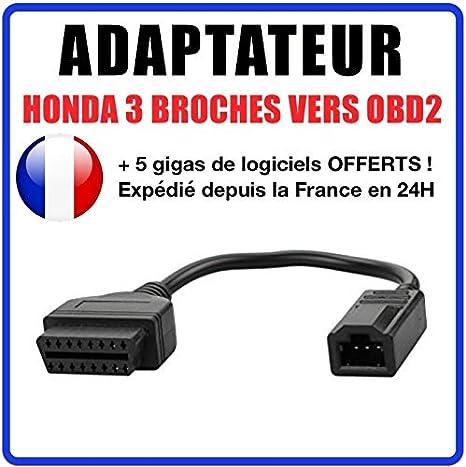 C/âble de diagnostic de moto 3 broches pour scanner de code de d/éfaut OBD2 C/âble de diagnostic de moto adapt/é pour Yamaha X-MAX N-MAX MT-125
