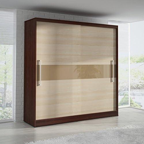 Armario de puertas correderas 6 ft 8 Inch (204 cm) fresno ...