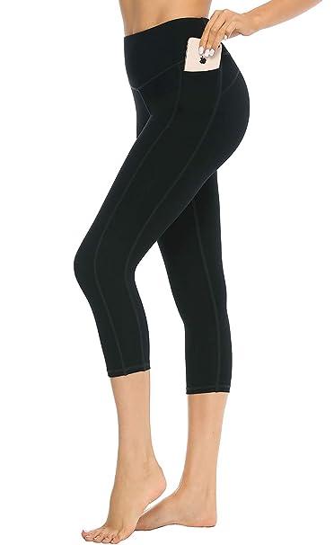 48c0f6644a081 JOYSPELS Capri Wonmens Athletics 7-8 Leggings High Waisted Tummy Control  Stretch Workout Yoga Pants