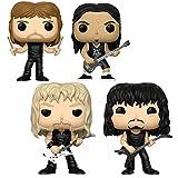 #9: Metallica Collectibles: Hand Picked 2017 Funko POP! Rocks Figures - Band Members Set