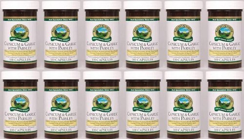 Naturessunshine Capsicum & Garlic w/ Parsley Herbal Combination Supplement 100 Capsules (Pack of 12) by Nature's Sunshine