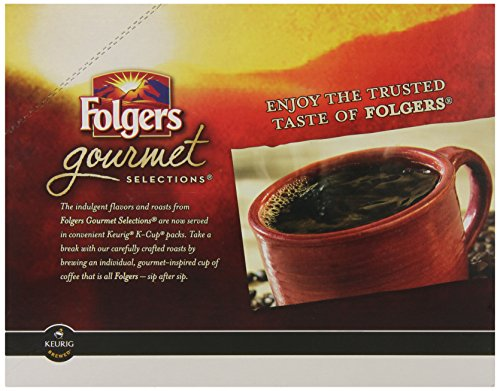 Folgers Gourmet Selections K-Cup Single Cup for Keurig Brewers, Black Silk, 24 Count