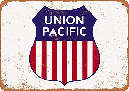 (Fireworksss Wall-Color 9 x 12 Metal Sign - Union Pacific Railroad - Vintage Look Reproduction)