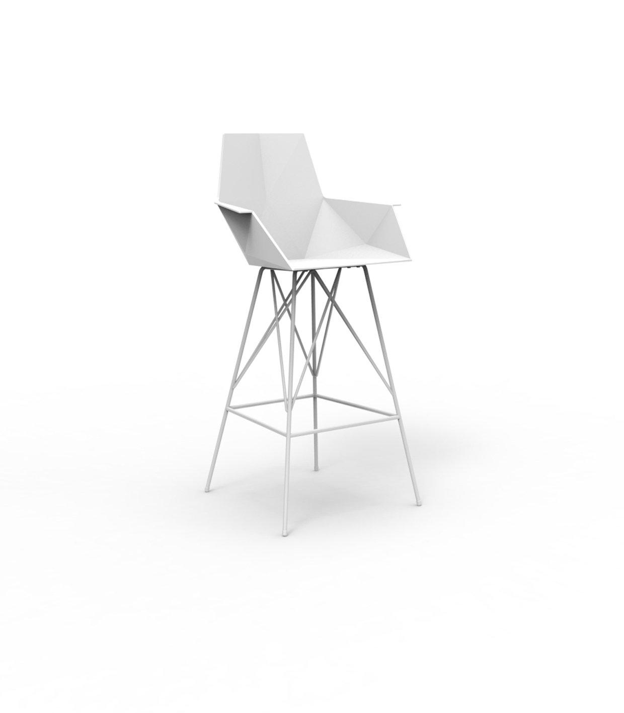 Vondom FAZ Barhocker mit Armlehnen - weiß - Höhe 111 cm - Ramón Esteve - Design - Barhocker - Gartenstuhl