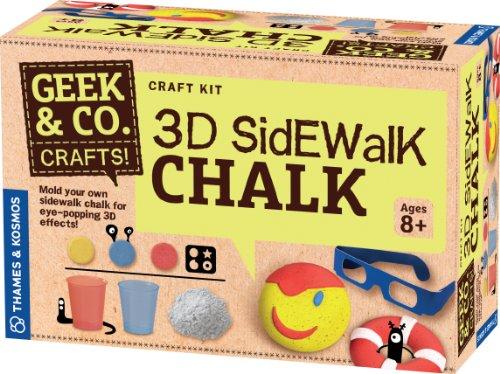 Geek & Co. Craft 3D Sidewalk Chalk (Chalk 3d Sidewalk)