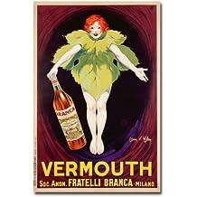 Fatelli Branca Vermouth, 1922 by Jean d'Ylen, 16x24-Inch Canvas Wall Art