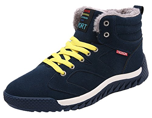 Lace Boots Lining Ankle Anti Classical Slip Sneaker Winter Bootie Mens Snow Fur Green Outdoor Warm Up Shoes wH8nT5Htq
