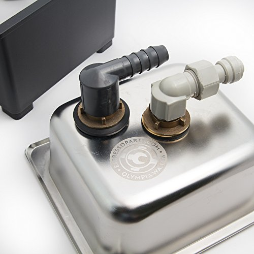Espresso Parts Pan Dimensions Counter Top Rinser, 6 by 6 by 2'', Stainless Steel by EspressoParts (Image #3)
