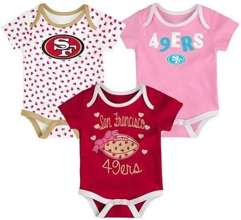 Outer 49ers Girls 3 Pack Creeper