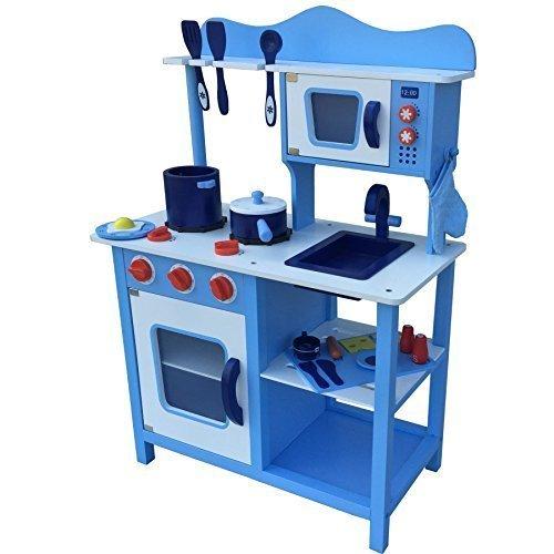 10 opinioni per Cucina per bambini Cucina gioco BLU/ ROSA / CIOCCOLATO / BIANCO in legno Gioco