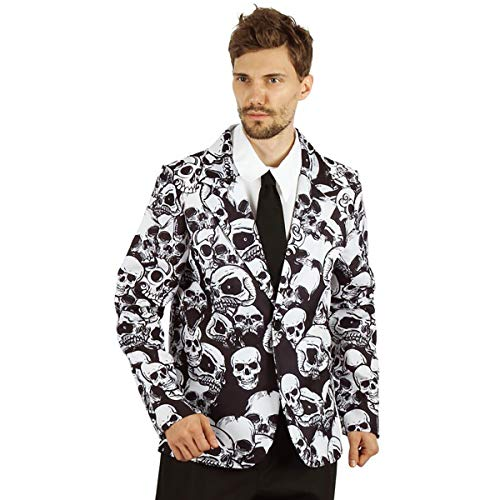 Funny Relevant Halloween Costumes (U LOOK UGLY TODAY Mens Halloween Costume Skeleton Jacket Cosplay for Adult Fancy Party Dress One Size (One Size, Skeleton)
