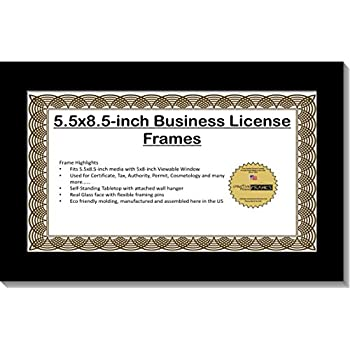 Amazon.com - Creative Picture Frames CreativePF [5.5x8.5bk] Business ...