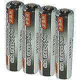 JC 充電式電池 単4形 4個パック [容量:1000mAh 約500回使用可能] 充電池 ニッケル水素
