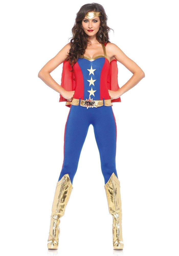 Damen-Kostüm Leg Avenue - Comic Book Hero lang, Größe:M