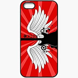 Personalized iPhone 5 5S Cell phone Case/Cover Skin 2013 wing rock guitar music Black by icecream design