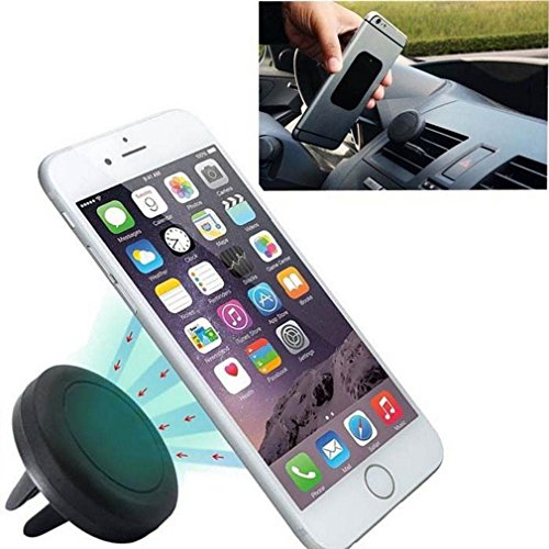 KIQ (TM) Universal Magnetic Car Air Vent Mobile Phone Holder Mount for iPhone Samsung