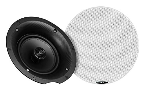 Pyle 5.25 Pair Bluetooth Universal Flush Mount In-wall In-ceiling 2-Way Speaker System Dual Polypropylene Cone & Polymer Tweeter Stereo Sound 240 Watts (PDICBT57)