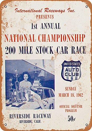 Wall-Color 7 x 10 Metal Sign - 1962 Riverside Raceway 200 Stock Car Race - Vintage ()