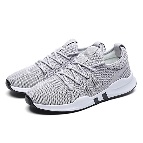 Men's Shoes Feifei Spring and Autumn Breathable Leisure Sports Shoes 3 Colors (Size Multiple Choice) Gray Xkqf028