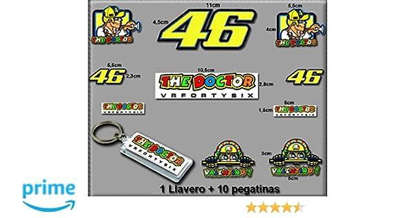 Ecoshirt, S9-GN5E-UD7J, Pegatinas y Llavero 46 Valentino Rossi The ...