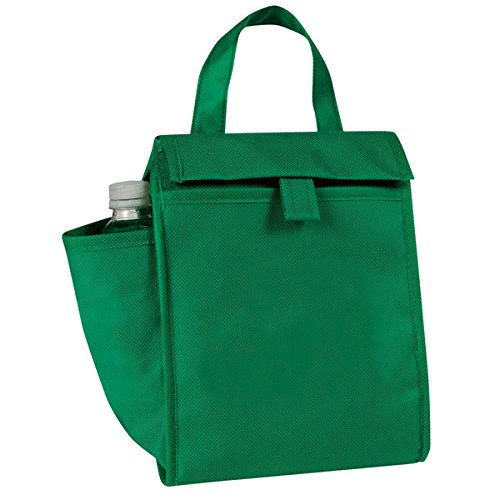 Eunichara eGreen Lunch Bag w/Bottle Pocket 90G Non Woven Polypropylene - Forest (Non Woven Bottle)