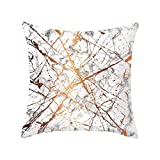 Pet1997 Multicolor Geometric Marble Texture Throw Pillow Case, Super Soft Pillowcase, Cushion Cover, Sofa Home Decor, Luxury Bedding,18 X18 Inch (B)