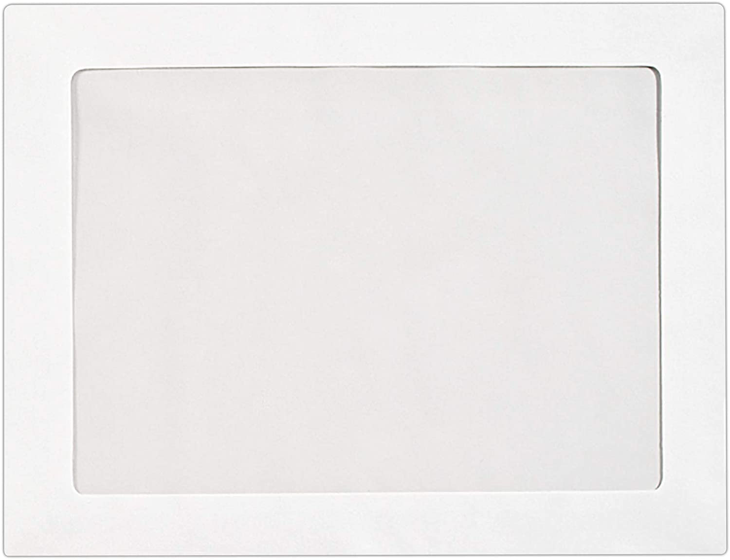 9 x 12 Full-Face Window Envelopes in 28 lb. Bright White for Mailing a Business Letter, Catalog, Financial Document, Magazine, Pamphlet, 50 Pack (White) : Office Products