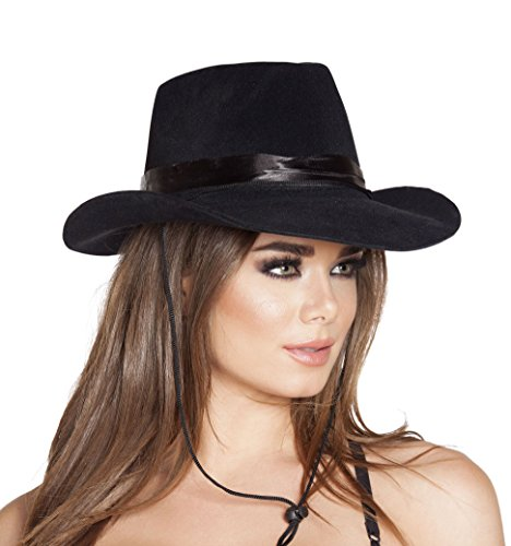 Sexy Women's Cowboy Hat Black Costume Accessory