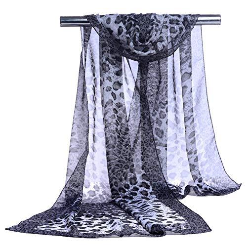Robert Reyna Fashion silk chiffon scarf summer sun beach towel shawl scarf,Long,Black from Robert Reyna Fashion-scarves