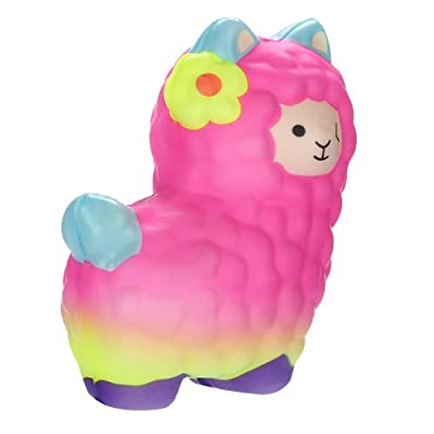 Yamart Lovely Llamas Squeeze Toy, Kawaii Fruits Scented Mini Soft Squeeze Toy,Fidget Hand Toy for Kids Gift,Stress Relief,Decoration, Best Christmas Birthday Present: Toys & Games