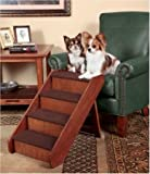 PupStep Wood Pet Stairs Size: Large (20″ H x 16″ W), My Pet Supplies