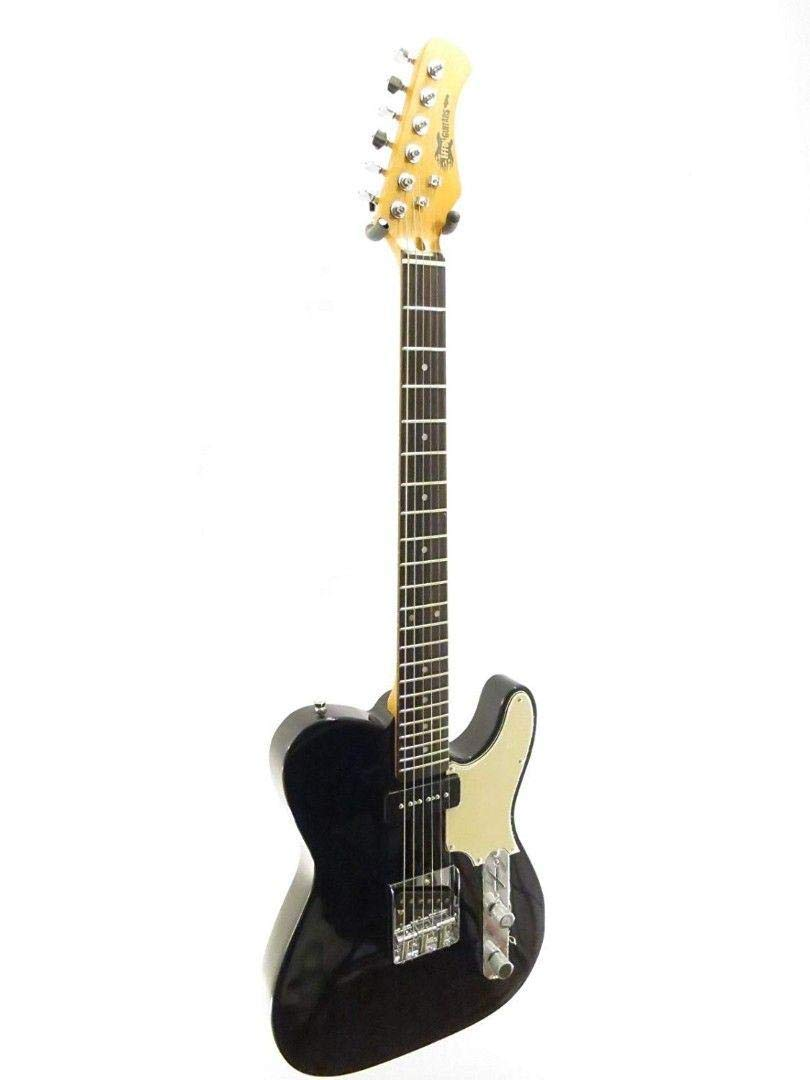 Effin Guitars Model Smelly//BK T-Style Gloss Black Finish Deluxe Electric Guitar