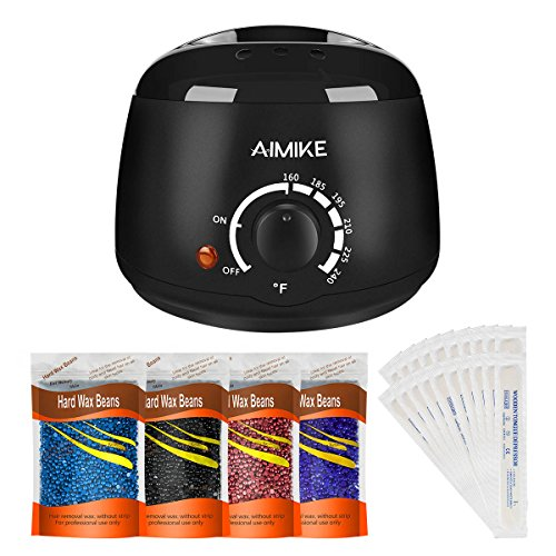 Price comparison product image Wax Warmer, Hair Removal Waxing Kit, Upgraded Wax Heater with 4 Colors Hard Wax Beans + 20 Wax Applicator Sticks by Aimike ( Packaging may vary)