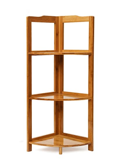 Amazon.com: Bookcase Corner Shelves Home Corner Cabinet Living Room ...