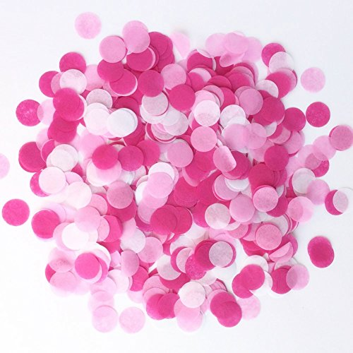 StarParty Confetti Circles 1inch Wedding Sprinkles Birthday Party Decoration (Be Mine Confetti)