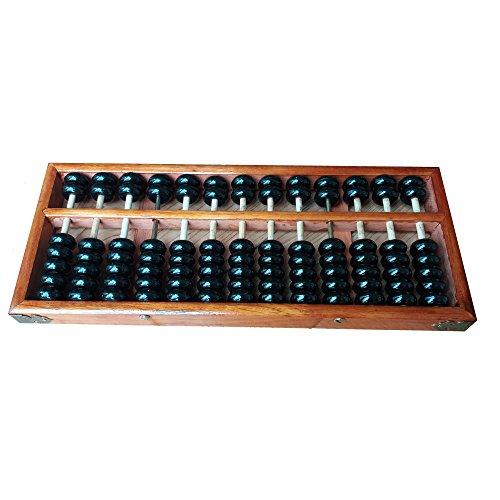 Chino tradicional 13Dígitos Calculadora de madera Abacus Aritmética Soroban Cálculo de herramientas matemáticas...