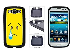Bright Yellow Sad with Tear Face TPU RUBBER SILICONE Phone Case Back Cover Samsung Galaxy S3 I9300 hjbrhga1544