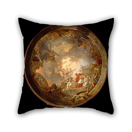 [Artistdecor 16 X 16 Inches / 40 By 40 Cm Oil Painting Jean-Simon Berthélemy - Saint Carlo Borromeo Attending To The Plague Victims Pillowcover,double Sides Is Fit For Shop,bedding,teens,drawing] (Bertha Red Costumes)