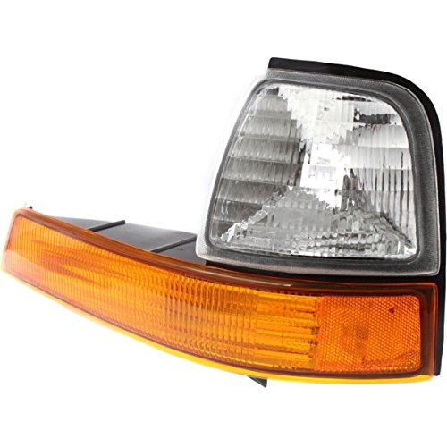 (DAT AUTO PARTS Front Parking Side Marker Light Lens and HOUSING Corner of Fender Replacement for 98-00 Ford Ranger FO2520144 Left Driver Side)