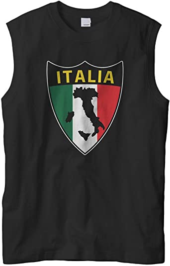 Retro Flag of Italy American with Roots Vintage Black Tank Top