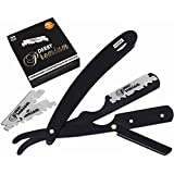 Professional Barber Straight Edge Razor Safety with 100 Derby Blades - 100 Percent Stainless Steel - by Utopia Care
