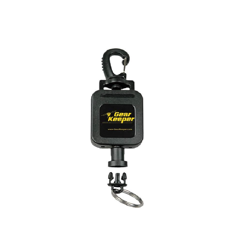 Hammerhead Industrial Gear Keeper General Gear Retractor RT4-0046 Features Heavy Duty Swiveling Snap Clip Mount - 16oz - Q/C-I Split Ring - Ideal for Tools, Gear .... or Keys - Made in USA by Gear Keeper