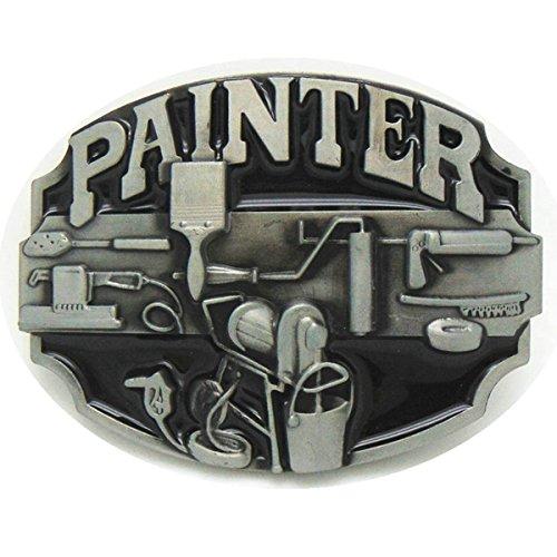 (Vintage Painter Belt Buckle)