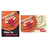 """Chicago Bulls NBA Collection"" Party Invitation and Thank You Cards"