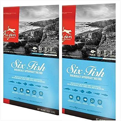 Orijen 2 Pack Six Fish Formula Dry Dog Food 13 lbs. Ea 2 Bags = 26 Pounds Total.
