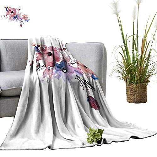 (YOYI Polyester Blanket painte Flowers Invitation wed car Birthday car Cozy and Durable 60