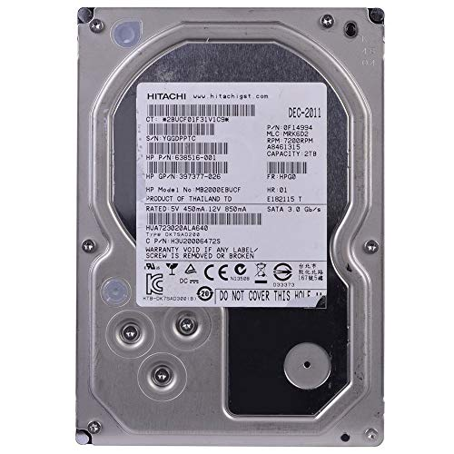 HITACHI, Hitachi Ultrastar A7K3000 HUA723020ALA640 2 TB Internal Hard Drive (Catalog Category: Computer Technology/Storage Components) (Renewed)