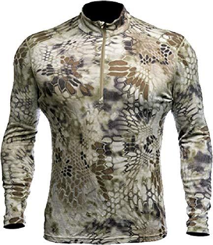 Kryptek Hoplite II Merino Wool 1/4 Zip MW - Long Sleeve Camo Hunting Shirt (Baselayer Collection), Highlander, L ()
